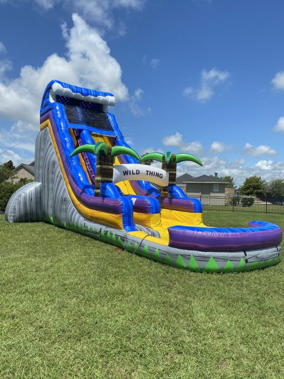 water slide 22 ft tall with tropical theme